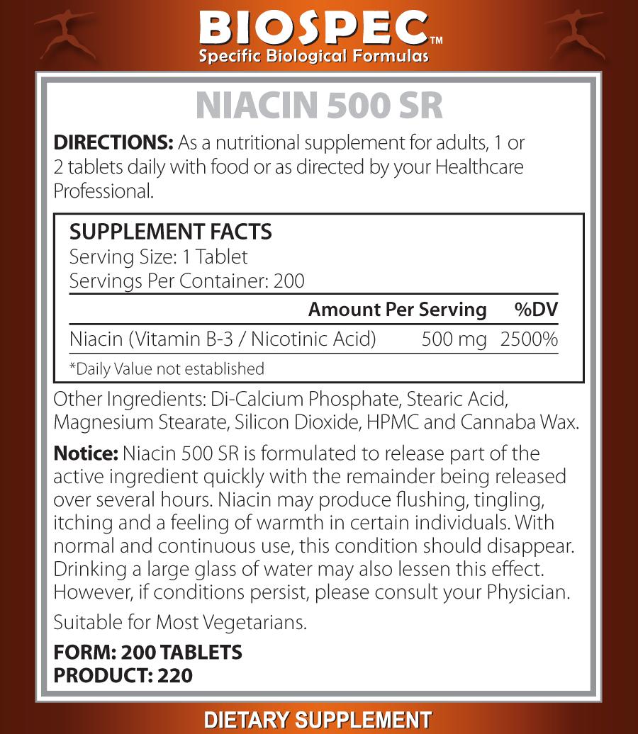 Niacin 500 SR